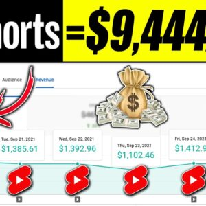 HowTo Make Money With YouTube Shorts   Brand New Strategy To Make $9,444/Wk Without Filming